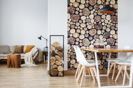 עצים להסקה כאלמנט עיצובי
