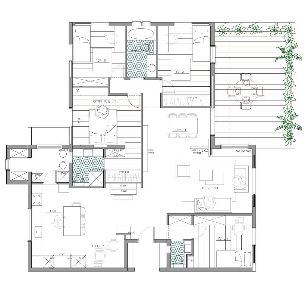 תוכנית אדריכלית של דירה