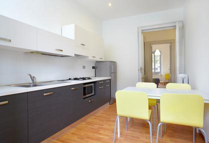מטבח מעוצב בדירה חדשה